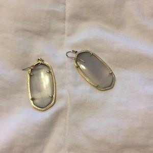 Grey gold drop Kendra Scott earrings